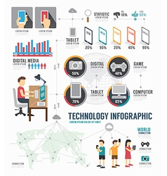 Infographic Technology digital template design vector image