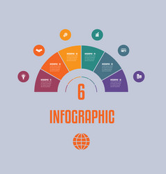 infographic template from colourful parts vector image
