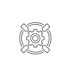 Integration system icon line vector