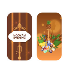 Invitation card for hookah evening concept vector