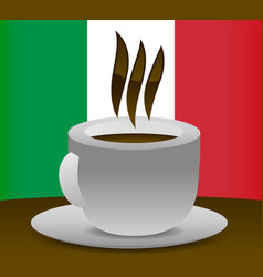 italian coffee vector image