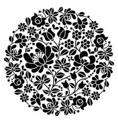 Kalocsai folk art embroidery - black Hungarian vector