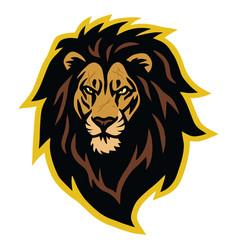 lion head scar logo mascot vector image