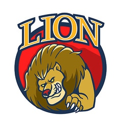 Lion mascot2 vector