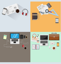 modern set design in office and for desk top view vector image