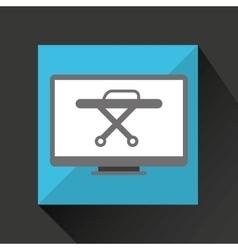 Online medical health stretcher design vector