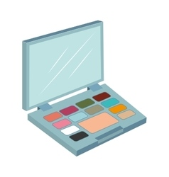 Palette make up eyes design isolated vector