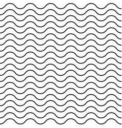 pattern black wavy line seamless background vector image