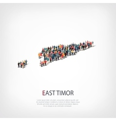 People map country East Timor vector