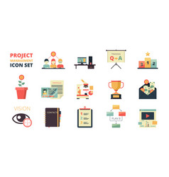 Project planning icon business strategy vector