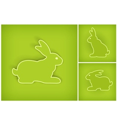 rabbits 10 v vector image