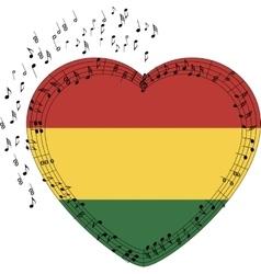 Rastafarian shaped heart vector