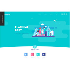 reproduction - web page template vector image