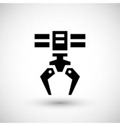 Robotic claw icon vector