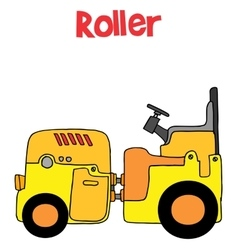 Roller transportation cartoon art vector