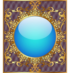 round background frame vector image