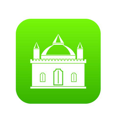 royal castle icon digital green vector image