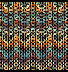 seamless geometric pattern based on ikat fabric vector image
