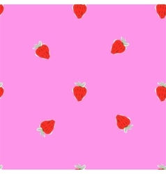 Seamless natural color pattern of strawberries vector image