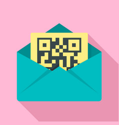 secured envelope letter icon flat style vector image