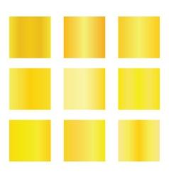 Set of gold gradients Golden backgrounds vector image