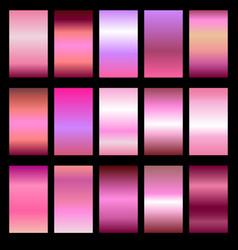 Set of metal gradients vector
