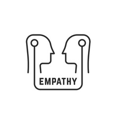 simple empathy icon with human heads vector image