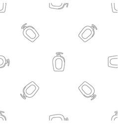 Soap gel dispenser icon outline style vector