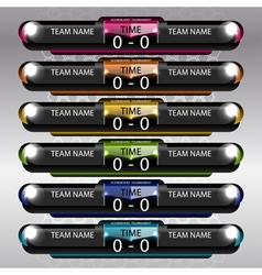 Soccer and football scoreboard vector