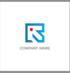 square arrow company logo vector image
