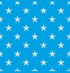 star pattern seamless blue vector image