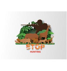 stop hunting animal vector image