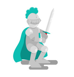 strong medieval knight vector image