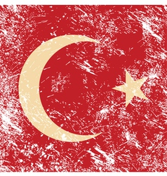 Turkey retro flag vector image