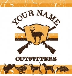 Vintage hunting sign vector