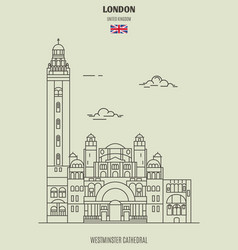 westminster cathedral in london vector image