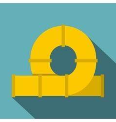 Yellow playground slider icon flat style vector