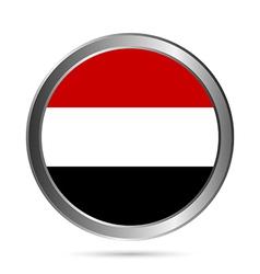 Yemen flag button vector