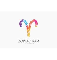 Zodiac ram logo Ram symbol logo Creative ram vector image