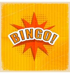 Cartoon Bingo Retro style vector image vector image