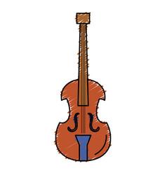 Cello musical instrument icon vector