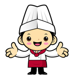 cook character welcome isolated on white vector image