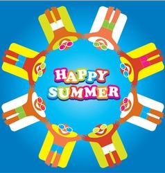 summer sea happy people vector image