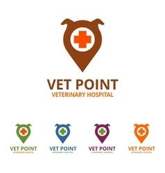 Vet Point Logo vector image vector image