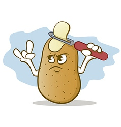 Potato Skin Head vector image vector image