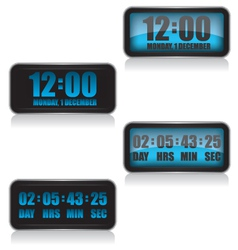 Digital clock and countdown vector image vector image