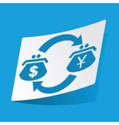 Dollar-yen exchange sticker vector image vector image