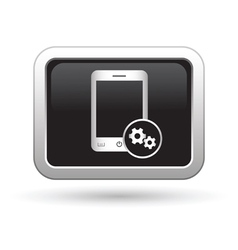 Phone icon with settings menu vector image