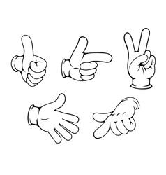Set of positive hands gestures vector image