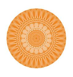 yellow mandala decoration retro texture element vector image vector image
